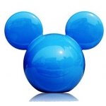 CARMATE - DISNEY MICKEY BIG HEAD BLUE (GREEN APPLE)