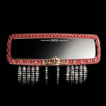 DAD GARSON - LUXURY MIRROR TYPE SILVER CROWN 310MM (RED LEATHER)