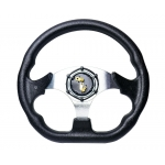 MOMO - AUTO RACE STEERING WHEEL WITH HORN BUTTON BLACK