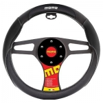 MOMO - CAR BLACK STEERING WHEEL COVER SUEDE VINYL