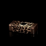 ONGO - CAR GLOSSY LEOPARD SERIES LARGE TISSUE BOX