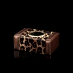ONGO - CAR GLOSSY LEOPARD SERIES SMALL TISSUE BOX