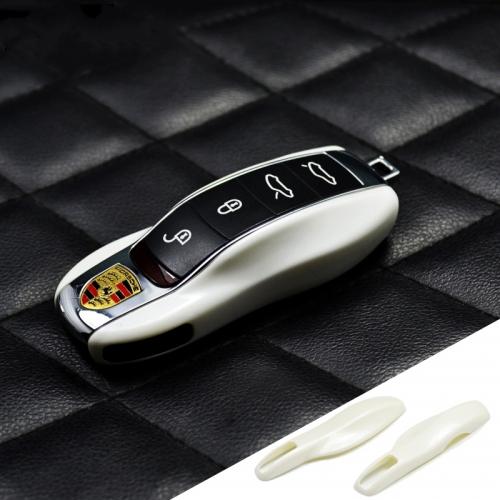 Porsche Remote Key Case Cover(white V Spec Auto