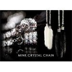 DAD GARSON - MINK CRYSTAL CHAIN BLACK