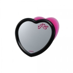 CARMATE - MINI MIRROR HEART BLACK
